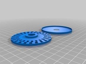 Optoelectrical Rotary Quadrature Encoder Disc and Sensor Mount