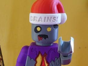 Lego Minifig Zombie Christmas Hat