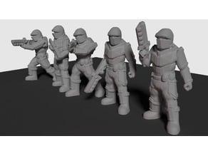 Terran Mandate Infantry (28mmm scale)