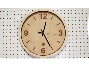 Wooden clock renewal laser cut