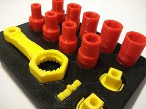 Support for the kit Ratchet + Socket Holder