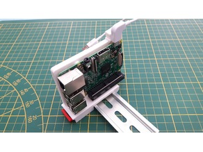 Raspberry pi DIN rail holder