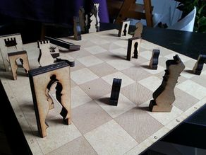 LasetCut - Chess set