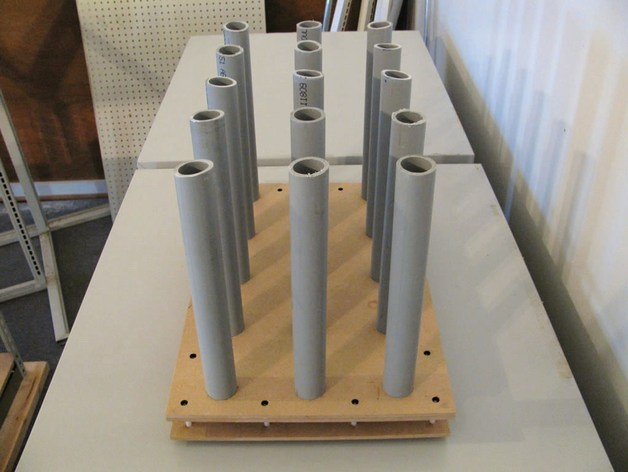 Floor Rack For Vinyl Rolls By Builttospec Thingiverse