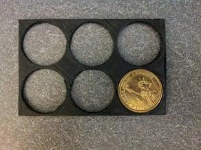 Dollar coin wallet holder (parametric)