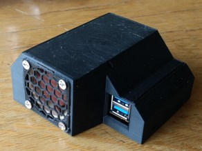 ODROID-XU4Q tunnel case actively cooled with Noctua 40x40x20mm fan