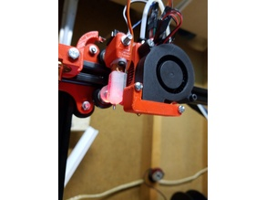 Reach3D prusa inspired hot end with cooling fan