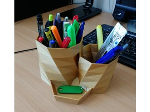 Double pencil cup / holder