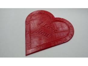 Secret Message Heart Puzzle