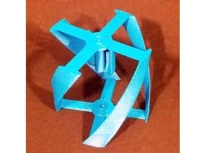 Vertical wind turbine parametric