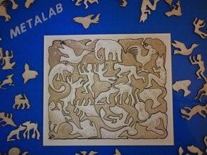 Lasercut MC Escher - Mosaic II