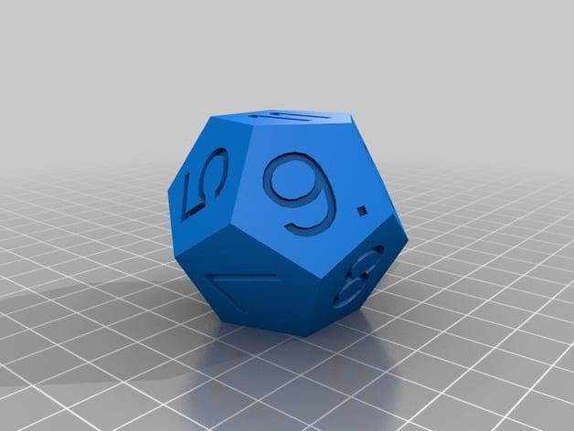 12 sided dice by nalanengine thingiverse