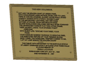 Statue of Liberty Plaque, Colossus