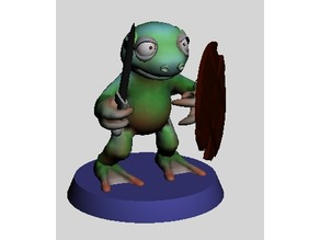 28MM SWAMPY FROGO WITH SWORD AND SHIELD