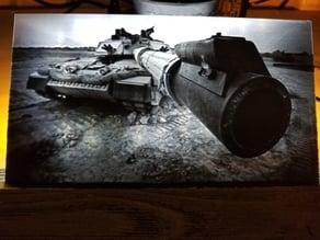 Challenger 2 Tank Lithophane