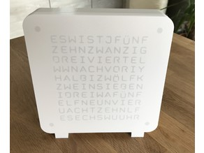 WordClock 12h (desk clock edition)