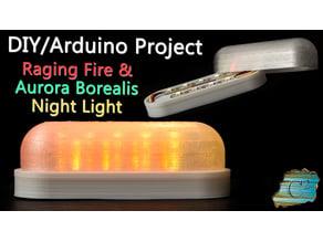 Raging Fire/Aurora Borealis Night Light  (ESP8266/Arduino/d1 mini)