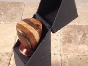 Hinged bottle stopper presentation box