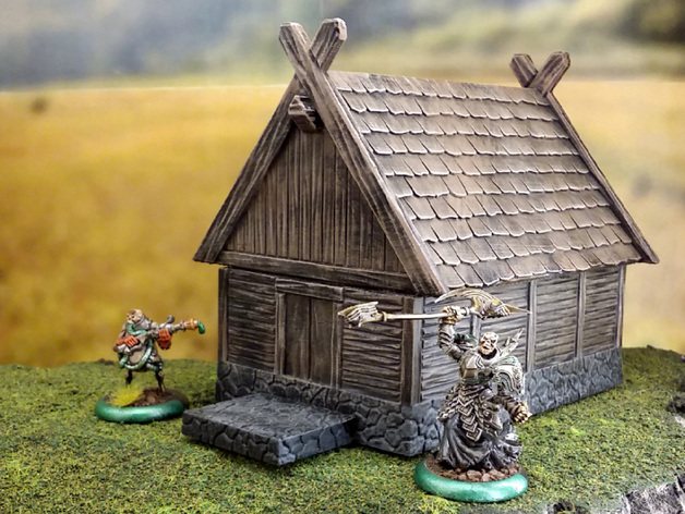 Smaller Fantasy Viking House By Terrain4print Thingiverse
