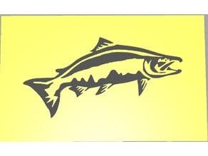 Salmon Fishing Stencil
