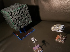 Star Trek attack wing Borg Cube Base(Fan version)