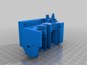 RE-RE-Remixed e3d mount support for CTC and Clones to fit full fan duct and X-Axis chain