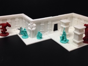 Wayfarer Modular Dwarven Hall Terrain Tiles (18mm scale)