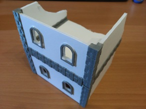 Parametric joints for foam core wargame buildings