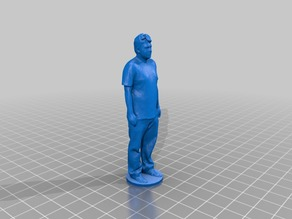 Male figure with stand