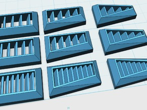 Vents / grills / louvres for scratchbuilding/kitbashing 1/60 scale robot models