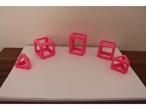 Foldable basic 3d shapes