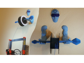 Wall Mounted Filament Spool Holder - 3D Printing Guardian