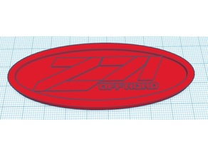 Chevy Z71 Off Road key chain or wall art