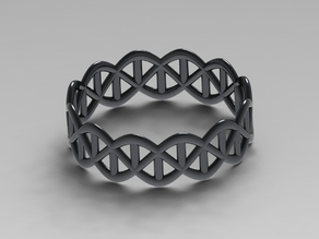 DNA Silver Ring