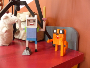 Voxel-style «Adventure Time» character figures