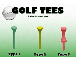 Golf Tees (3 types)