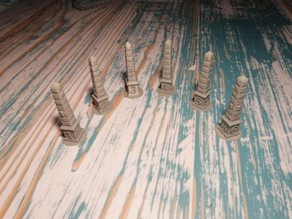 Obelisk Markers 25mm Base