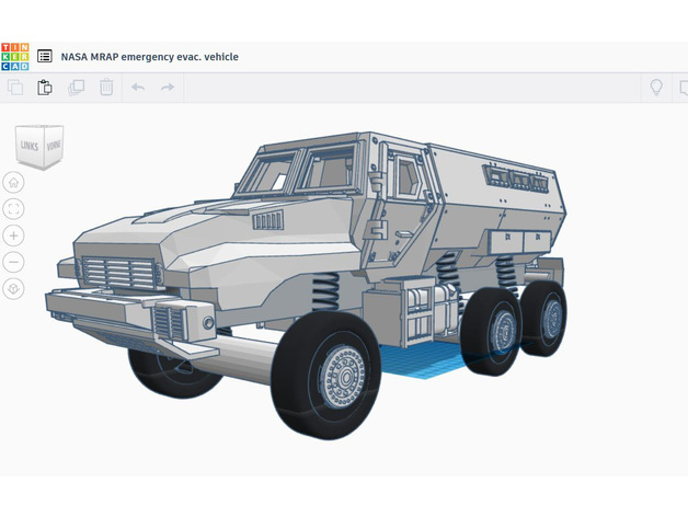 Rc Car Truck Body 1 12 Bae Caiman Nasa Mrap Style By Farmersmark Thingiverse