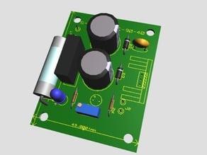 Fuente de alimentacion regulable con LM317 - Adjustable power supply with LM317