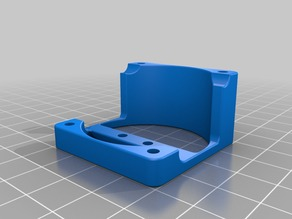 Fan bracket 3d Builder for single extruder