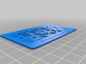 My Customized Thingiverse's custom business card