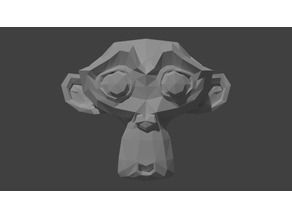 Blender Monkey High and Low poly