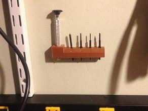Screwdriver wall holder