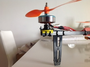hextronik DT750 motor mount for 10mm tricopter/quadcopter booms