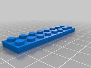 8 x 2 x .3 Lego Brick