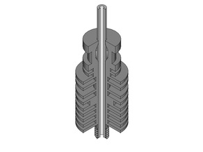 E3D lite6 hotend with full threads and cutaway version