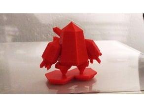 Low Poly Crystal Golem Miniature (Regice Pokemon Remix)