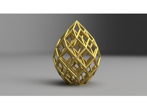 Cubic Lattice Statue
