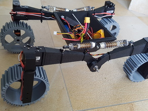 Mars Robot Rover RC Crawler with directional wheels