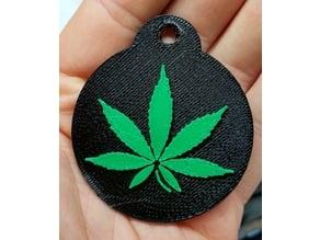 Marijuana Leaf Keychain